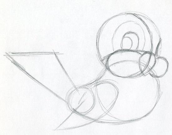 Нарисовать гвоздь поэтапно 2