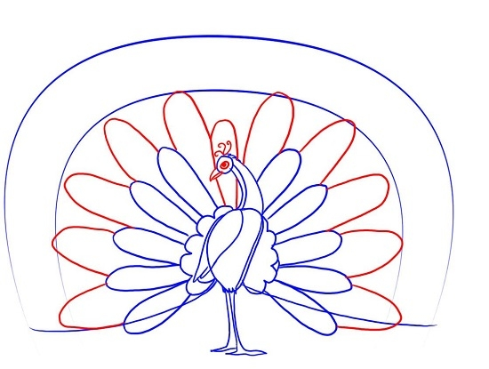 Как нарисовать жар-птицу карандашом