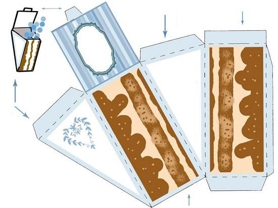 Бумажный торт для мужчин