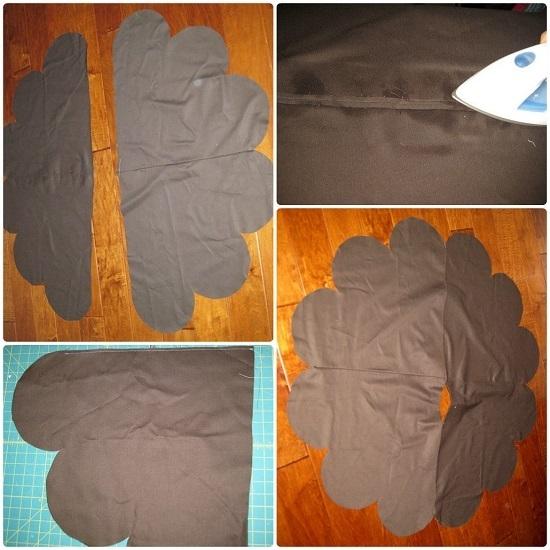 Сшиваем каждую часть подкладки