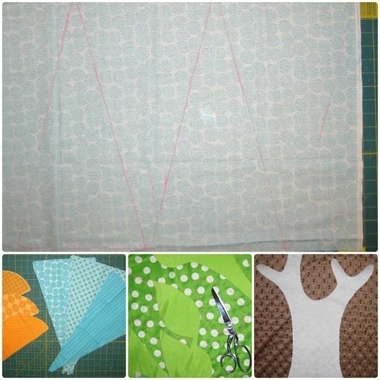Создаем эскиз на ткани и вырезаем необходимое количество деталей: