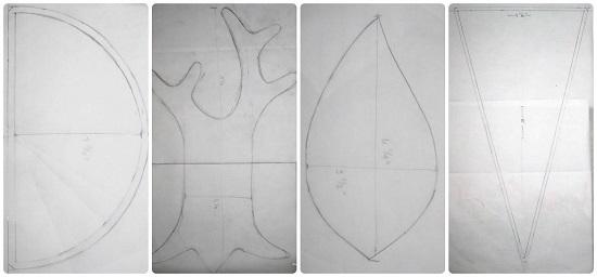 Нарисовать на кальке и вырезать основной шаблон с декоративными элементами