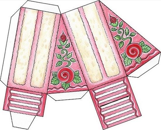 Бумажный торт для девушек, женщин, мам и бабушек.