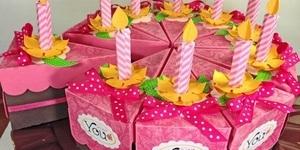 Как сделать бумажный торт подарок