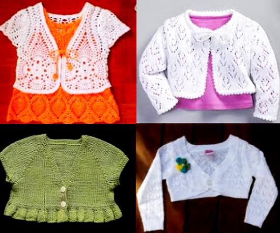 Болеро для девочки спицами: схемы и описание