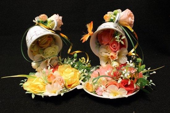 Парящая кружка с цветами мастер-класс