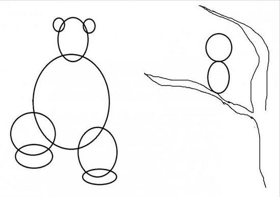 Делаем основу рисунка в виде овалов
