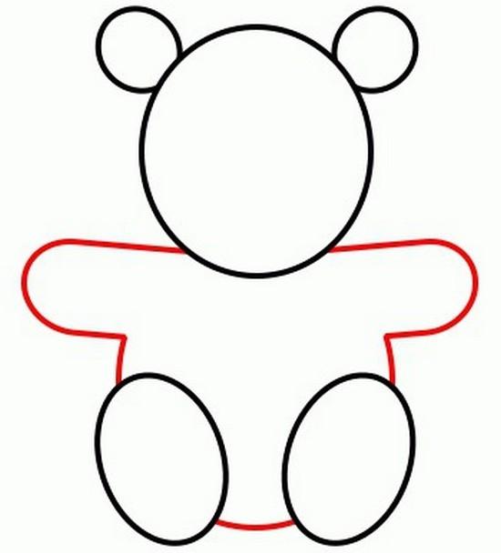 Как карандашом нарисовать медвеженка