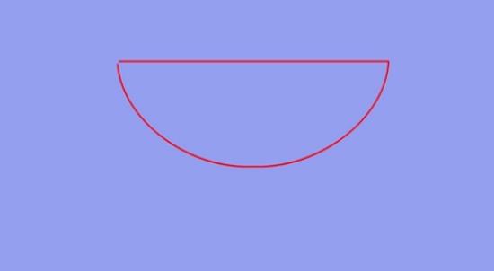 Проводим ровную линию среза