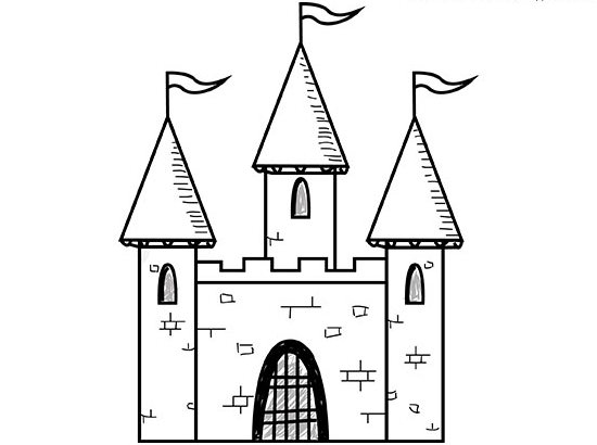Замок в готическом стиле