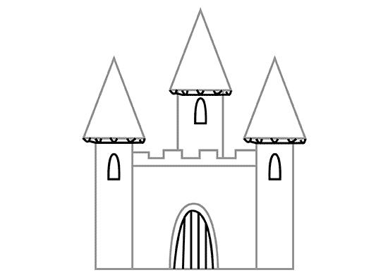 Добавляем под треугольниками крыш рельефы