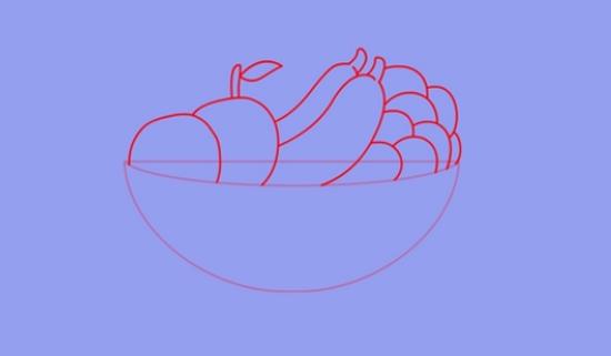 Делаем штриховые наброски фруктов