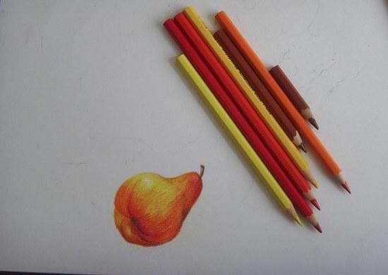 Раскрашиваем грушу