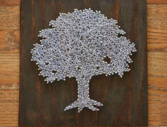 Как сделать своими руками дерево из ниток