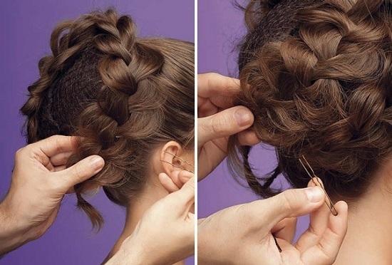 Прическа коса на выпускной бал для длинных волос