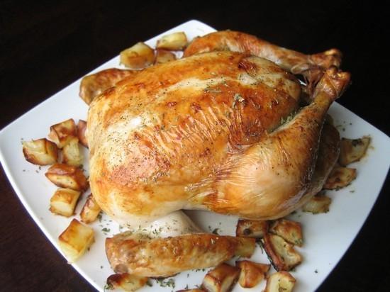 сколько курицу надо жарить в духовке