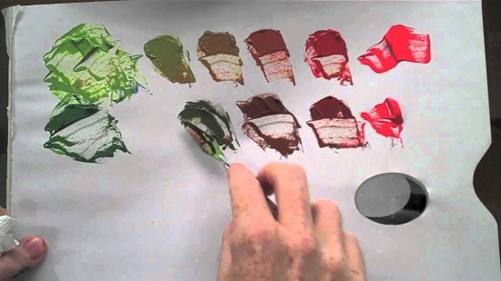 Как получить коричневый цвет из гуаши