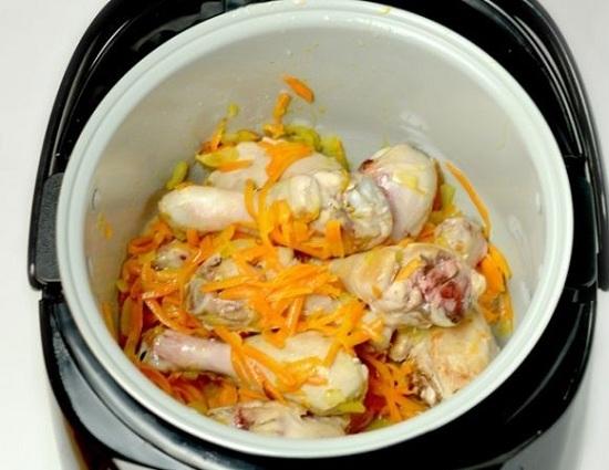 Жаркое в мультиварке поларис из курицы с картошкой рецепт с фото