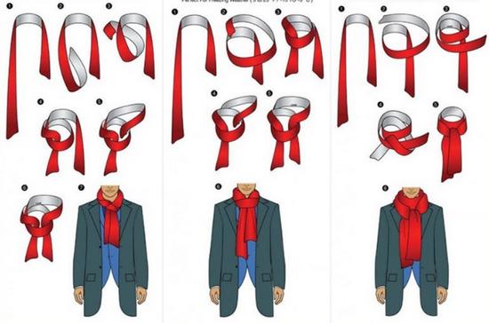 Как замотать шарф мужской