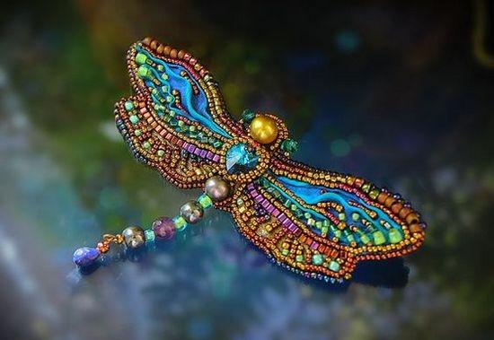Вышивка бисером стрекоза