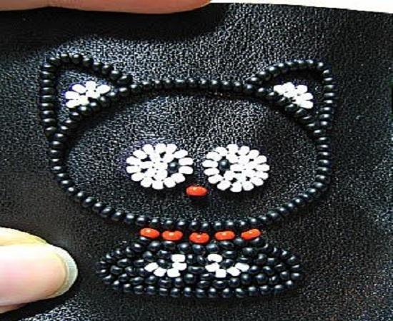Котенок вышивка бисером пошагово