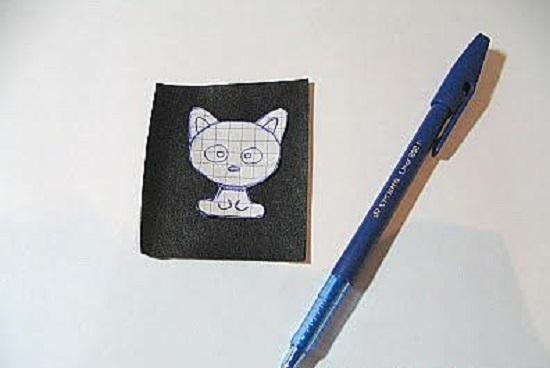 Котенок вышивка бисером