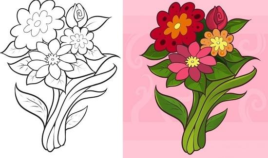 Георгины, ромашки, розы, букет: мастер-класс