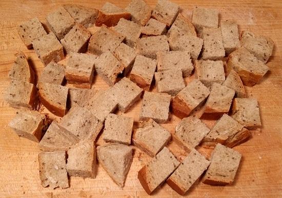 Сушка хлеба на противне