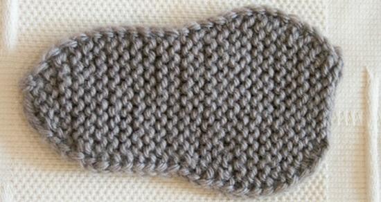 вязания фигурной подошвы для будущих кед