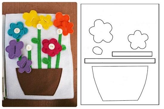 Попробуйте вырезать эти цветочки по выкройке