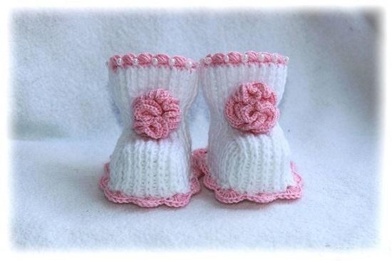 Милые тапочки для новорожденного