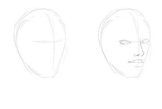 Как поэтапно рисовать портрет мужчины и женщины карандашом: схемы для начинающих