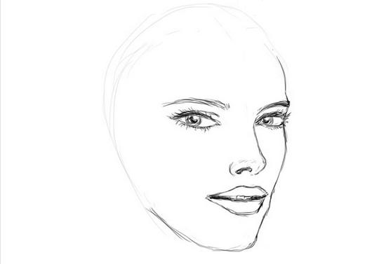 Рисуем губы и глаза