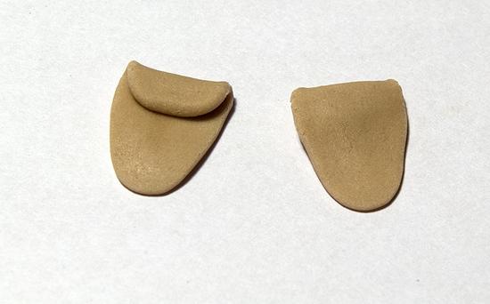 Ушки из мастики