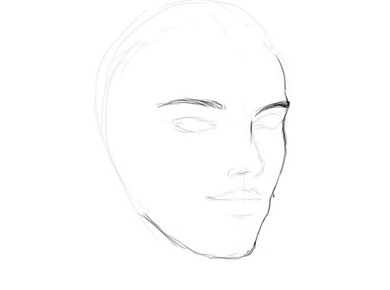 Как рисовать женское лицо