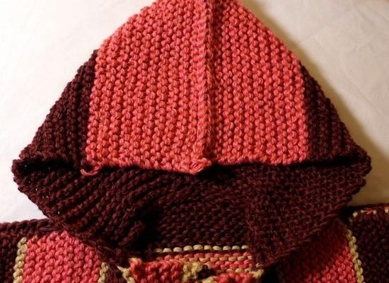 Как связать капюшон спицами от горловины техникой прямого вязания: шаг 12