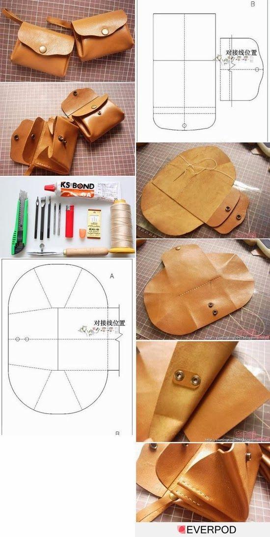 Выкройка сумки из кожи своими руками