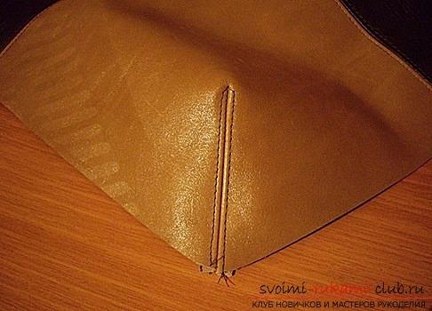 Выкройка сумки из лоскутов кожи своими руками