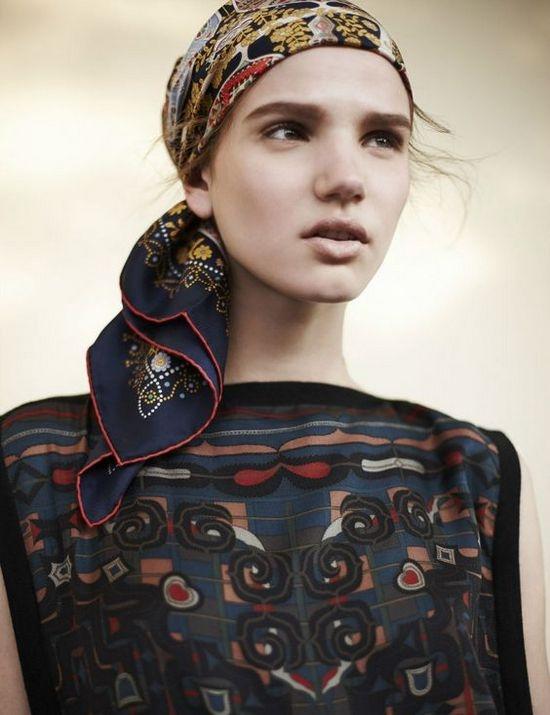 Как красиво завязать шарф на голове?