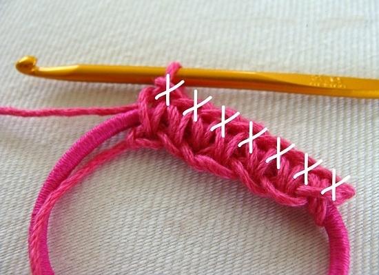 Повязка на голову крючком для девочки: шаг 6