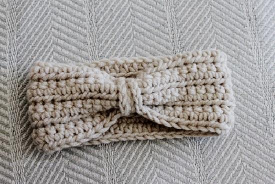 Как связать теплую повязку для межсезонья: шаг 6