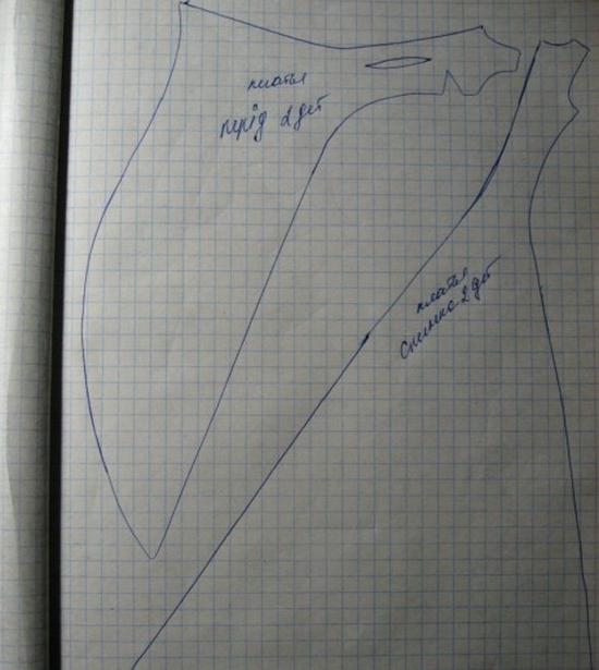 На бумаге рисуем деталь переда