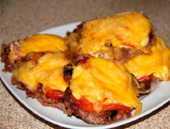 Мясо по французски и грибы рецепт с пошагово