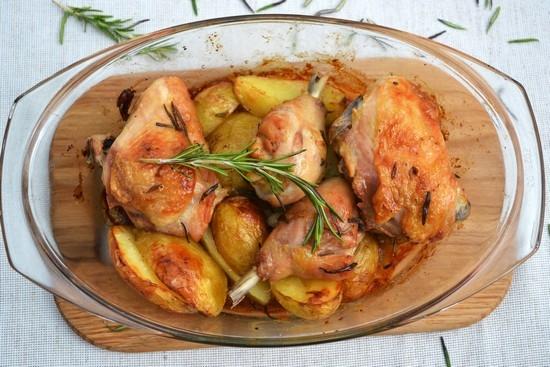 Индюшка с картошкой в духовке
