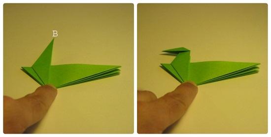 динозав из бумаги