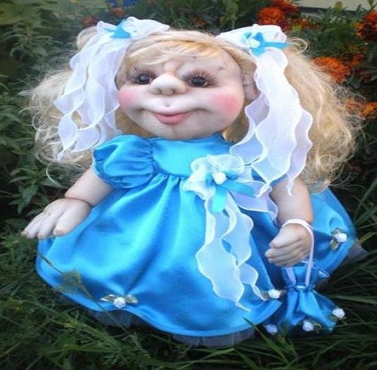Пришиваем кукольную голову к туловищу