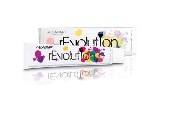 Итальянская краска rEvolution – тоже не содержит аммиака, но воспринимается как микстон из-за ярких оттенков: пурпурный, маджента, синий и т.д.