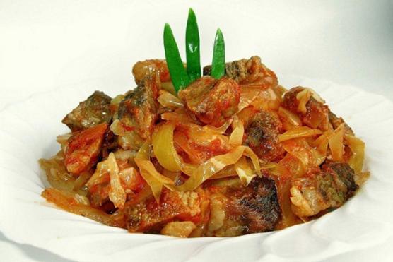 картошка в мультиварке с мясом и капустой