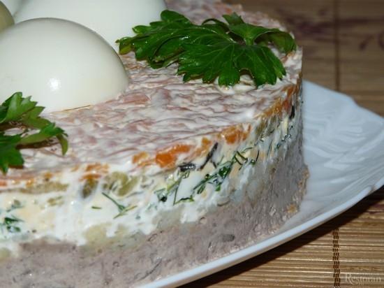 салат из печени свиной
