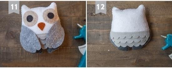 Как смастерить сову из фетра: шаг 10